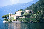 Lago Di Como Framed Prints - Lake Como Palace Framed Print by Greta Corens