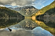 North Cascades Framed Prints - Lake Diablo Glass Framed Print by Adam Jewell