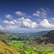 Lake District Framed Prints - Lake District England Great Langdale Square Framed Print by Colin and Linda McKie