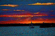 Razzmatazz Art - Lake Erie Sunset by Jim Lepard