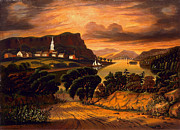 Thomas Chambers - Lake George and the Village of Caldwell by Thomas Chambers