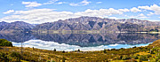 Otago Region Framed Prints - Lake Hawea Panorama Otago New Zealand Framed Print by Colin and Linda McKie