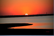 Lakes Digital Art - Lake Hefner Sunset by Gary Emilio Cavalieri