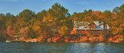 Bryant Metal Prints - Lake House Metal Print by Brenda Bryant
