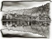 Lake House Prints - Lake House Reflection Print by Ron White