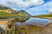 Summer Digital Art Metal Prints - Lake Idwal Metal Print by Adrian Evans