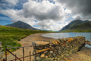 Summer Digital Art Metal Prints - Lake Idwal Gate Metal Print by Adrian Evans