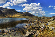 Clouds Scape Prints - Lake Idwal Print by Ian Mitchell