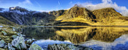 Lake Idwal Panorama Print by Ian Mitchell