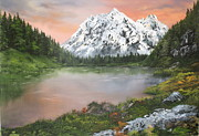 Cheeses Painting Prints - Lake in Austria Print by Jean Walker