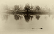 TONY GRIDER - Lake in Fog Sepia II