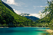 Travel China Posters - Lake in Jiuzhaigou Sichuan China Poster by Fototrav Print