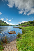 Beach Fence Prints - Lake in Wales Print by Adrian Evans