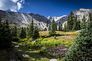 Rocky Mountain Prints - Lake Isbelle Mountains Print by Michael J Bauer