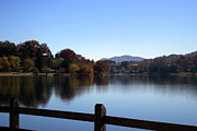 Lake Junaluska In The Mountains Print by Paula Tohline Calhoun