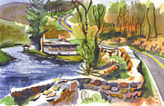 Water Colors Originals - Lake Killarney Impressions Ironton Missouri by Kip DeVore