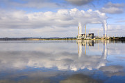 Reflected Framed Prints - Lake Liddell Power Station NSW Australia Framed Print by Colin and Linda McKie