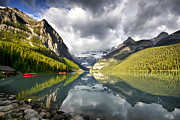 Lake Louise Banff National Park Print by Teresa Zieba