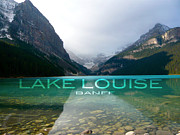 Teshia Art Acrylic Prints - Lake Louise Banff Acrylic Print by Teshia Art