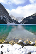 Autumn Landscape Fine Art Print Posters - Lake Louise Beauty Poster by Andrea Hazel Ihlefeld