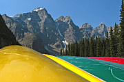 Lake Louise Canoe Print by Kurt Gustafson