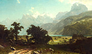 Bierstadt Digital Art Framed Prints - Lake Lucerne Framed Print by Albert Bierstadt