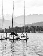 Lucerne Art - Lake Lucerne Switzerland  by Nian Chen