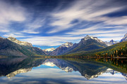 Montana Landscapes Photographs Posters - Lake MacDonald Poster by Jerry Fornarotto