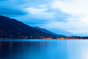Holiday Photo Prints - Lake Maggiore Before Sunrise Print by Susan  Schmitz
