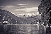 Silvia Ganora Framed Prints - Lake Maggiore Italy and Alps Framed Print by Silvia Ganora