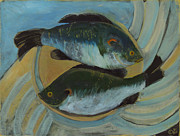 Iconic Paintings - Lake Martin Fish by Carol Oufnac Mahan
