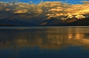 Lake Mcdonald Framed Prints - Lake McDonald Reflections Framed Print by Adam Jewell