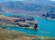Lake Mead Aerial Shot Print by John Malone