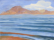 Desert Lake Painting Posters - Lake Mead Poster by Jayne Schelden