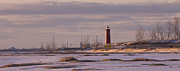 Great Lakes Photos - Lake Michigan Lighthouse by Daniel L Burlingame