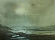 Rainy Street Painting Originals - Lake Michigan by Sandra Strohschein