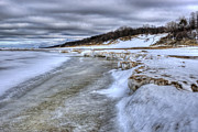Indiana Dunes Photos - Lake Michigan Shelf Ice by Scott Wood