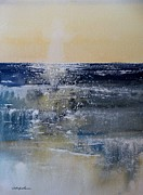 Crashing Surf Paintings - Lake Michigan Wave Sets by Sandra Strohschein