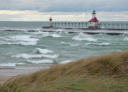 Ann Horn Prints - Lake Michigan Winds Print by Ann Horn