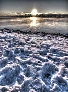 Lake Mjosa Sunset Print by Chris Shirley
