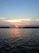 Blank Greeting Cards Prints - Lake Murray Sunset Print by M West
