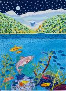 Canmore Artist Posters - Lake of Little Fishes Poster by Virginia Ann Hemingson