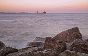 Port Credit Prints - Lake Ontario Dusk Print by Charline Xia