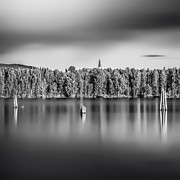 Lake Oyeren Print by Erik Brede