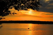 Boaters Photo Prints - Lake Panarama sunset Print by Bob Hislop