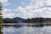 Reflection Of Trees In Lake Prints - Lake Placid Print by John Telfer