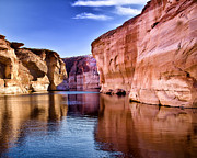 Canyon Lake Prints - Lake Powell Antelope Canyon Print by Jon Berghoff