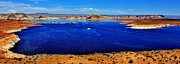 Desert Lake Framed Prints - Lake Powell Panorama Framed Print by Benjamin Yeager