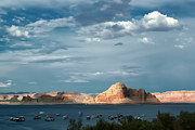Powell River Metal Prints - Lake Powell water color effect Metal Print by Tom Prendergast