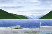 Lake Rotoroa - South Island - New Zealand Print by Peter Farrow